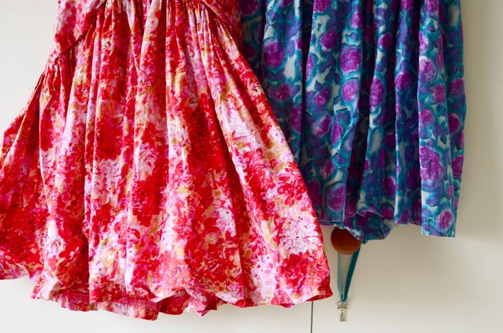 vintage full skirt dresses c