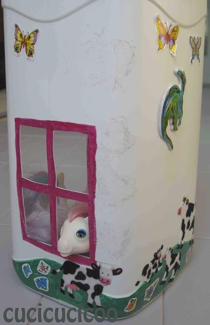 plastic bottle doll house