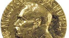 Nobel prize medal closeup
