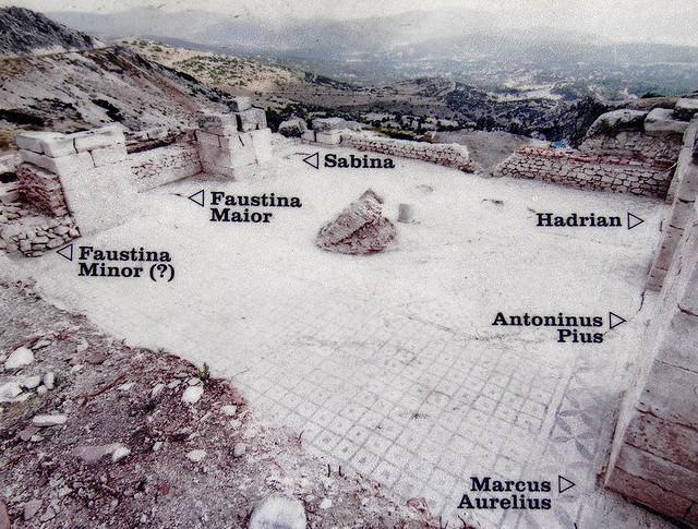 The frigidarium of the Roman Baths complex the statues were found, Sagalassos, Turkey