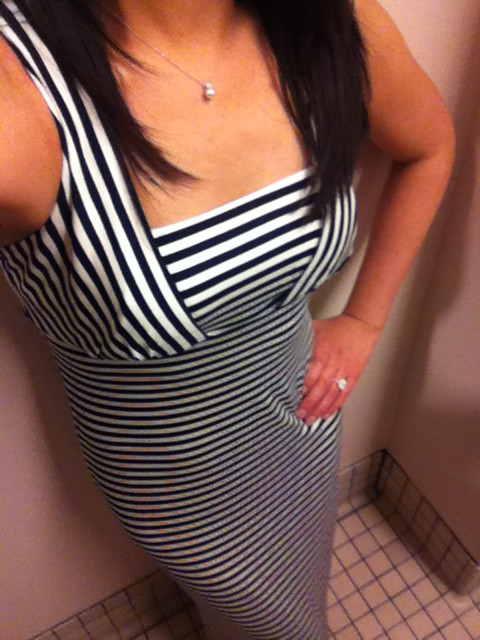 Petite Striped Maxi Dress, size XXSP