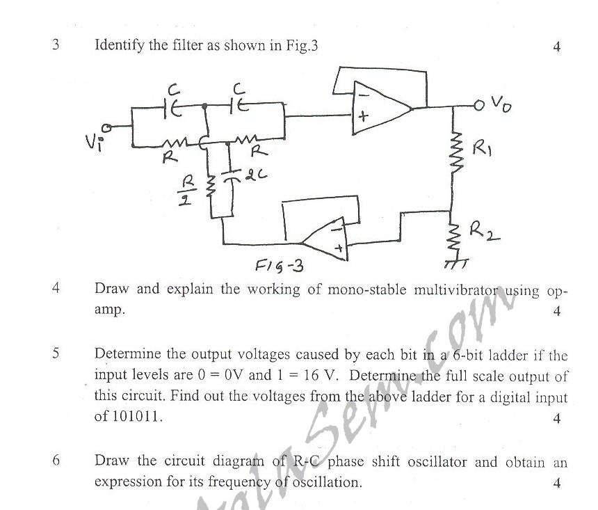 DTU Question Papers 2010 – 5 Semester - Mid Sem - EE-302