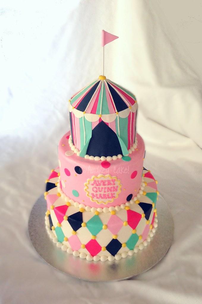 Vintage Circus Baby Shower Cake