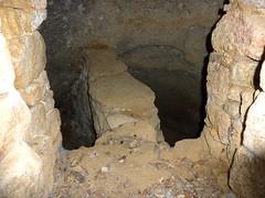 Chaos de Valle di Scopa : intérieur de l'oriu n°1 avec son mur de séparation