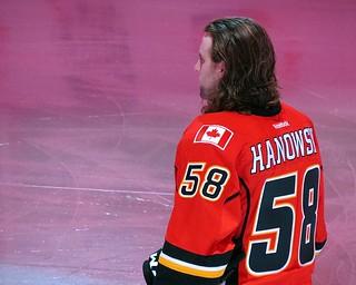Ben Hanowski - 1st NHL Game