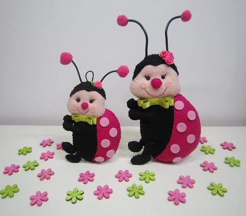 ♥♥♥ Meninas joaninhas... by sweetfelt \ ideias em feltro