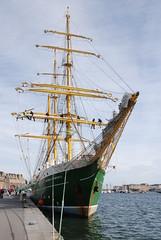 sail, sailing ship, vehicle, ship, sea, windjammer, training ship, full-rigged ship, mast, galeas, barquentine, tall ship, watercraft, flagship, boat, barque,