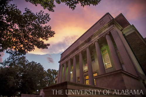 Amelia Gayle Gorgas Library in the Evening