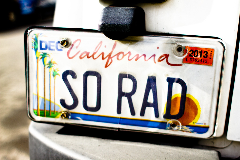 so rad - California license plate