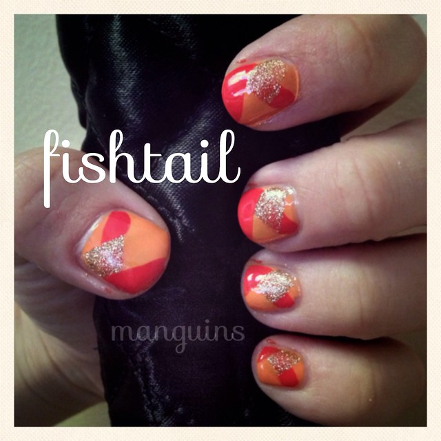 Fishtail Nail Art