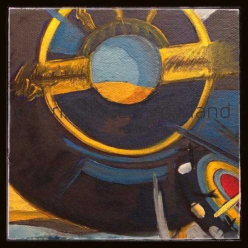 Today is #RecordStoreDay! So guess what I've been #painting ...#vinyl #records (still in progress)