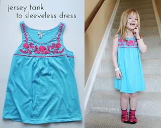 jersey tank to sleeveless dress