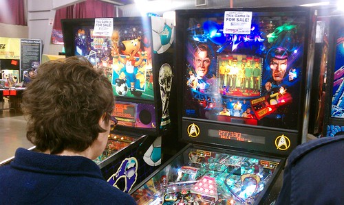 Me playing Star Trek Pinball