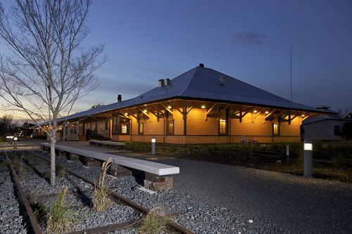 architecture night historic depot