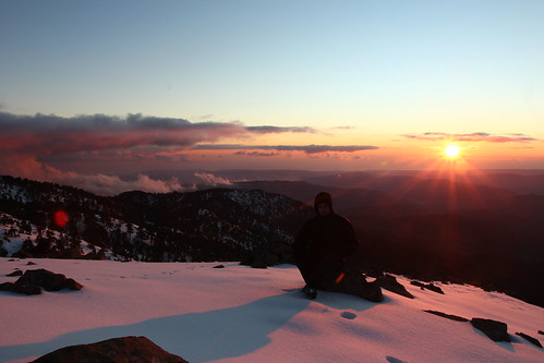 winter sunset snow cyprus trail artemis troodos