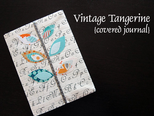Vintage Tangerine covered journal