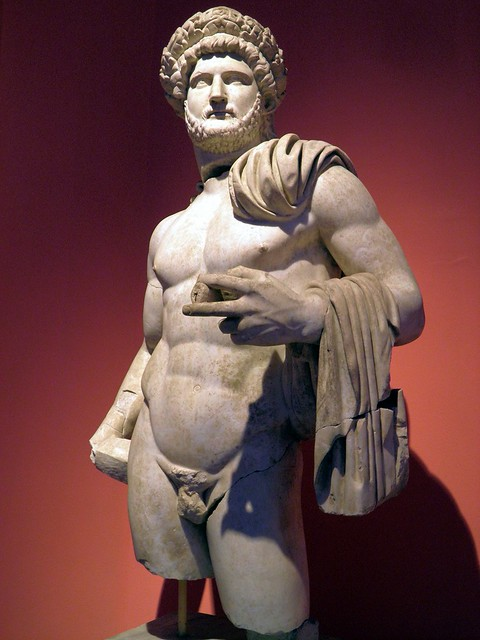 Nude statue of Hadrian wearing the Corona Civica (Civic Crown), from the North Nymphaeum at Perga, Antalya Museum