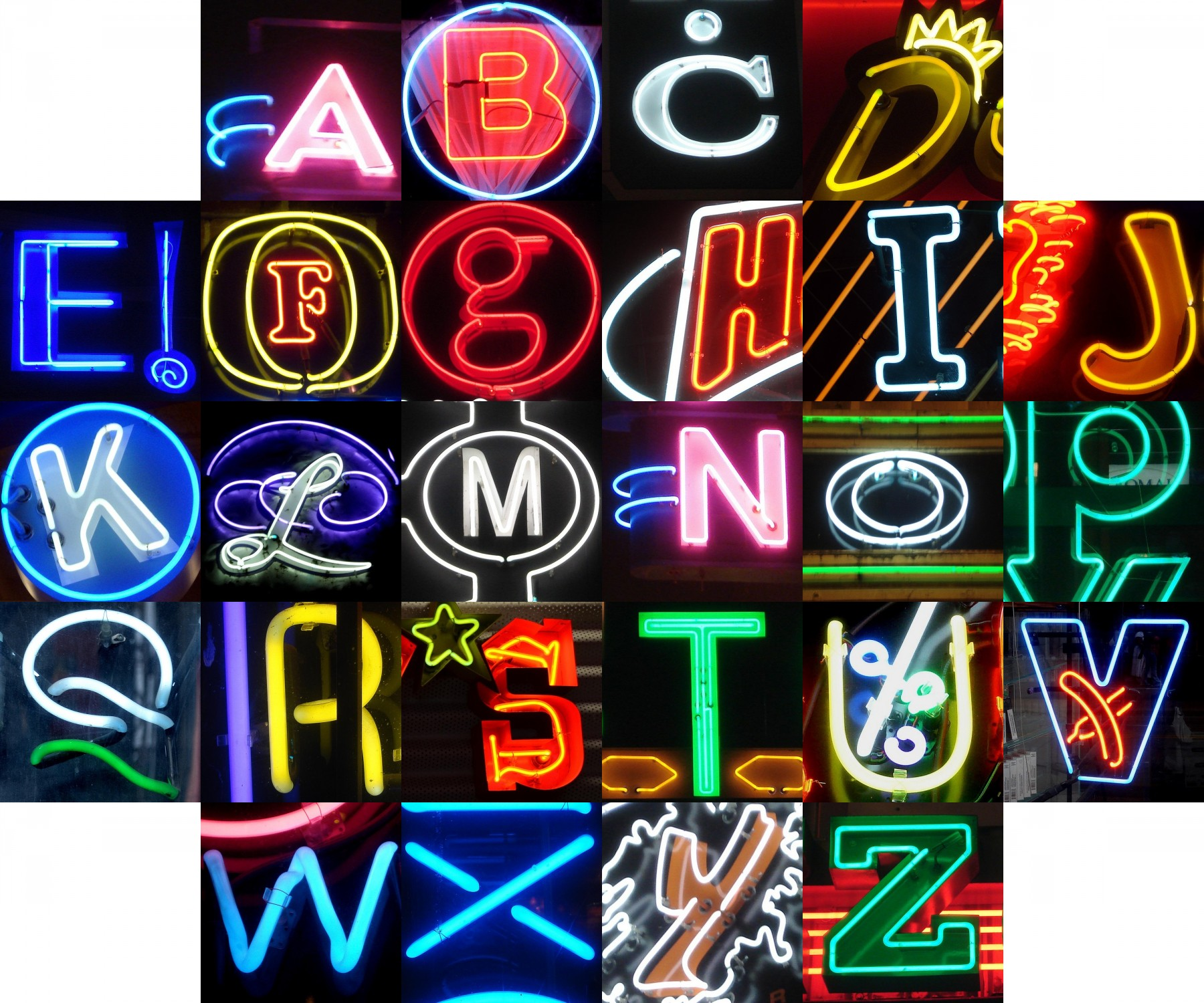 Neon alphabet flickr photo sharing for Large neon letters
