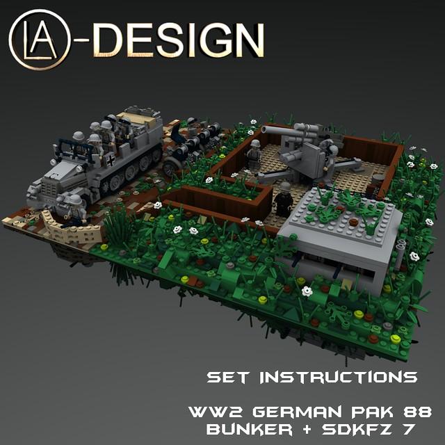 LEGO Custom WW2 Pak 88 Diorama