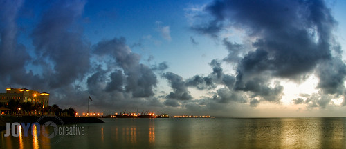 ocean africa sunset sea sky reflection water night clouds port bay dusk djibouti