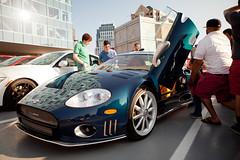 aston martin v8 vantage (2005)(0.0), aston martin dbs(0.0), aston martin vantage(0.0), auto show(0.0), race car(1.0), automobile(1.0), spyker c8(1.0), vehicle(1.0), performance car(1.0), automotive design(1.0), land vehicle(1.0), supercar(1.0), sports car(1.0),