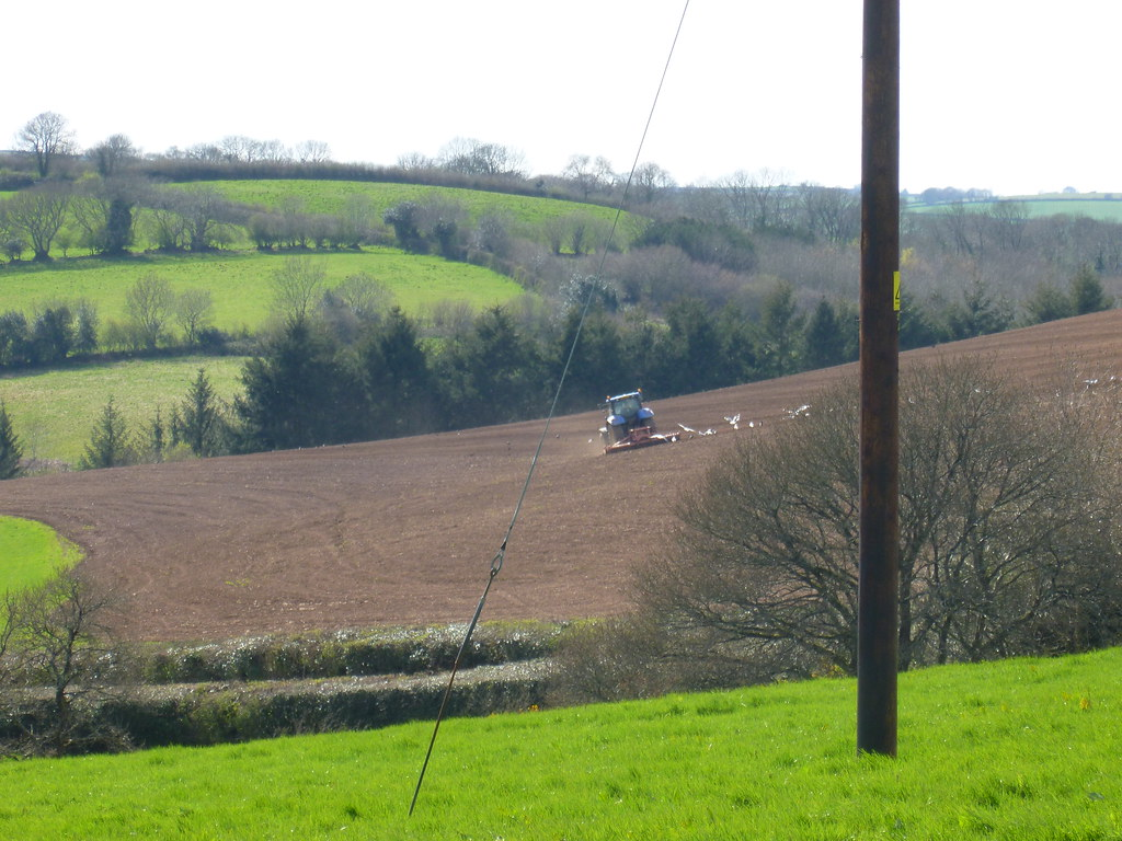 The fields are being ploughed