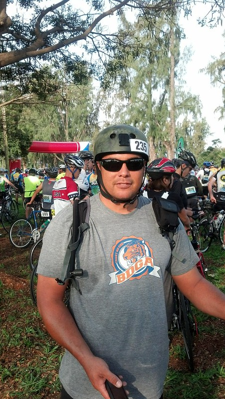 Keith at start of JBK Metric Century Ride 2013
