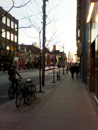 Looking west, Queen Street West