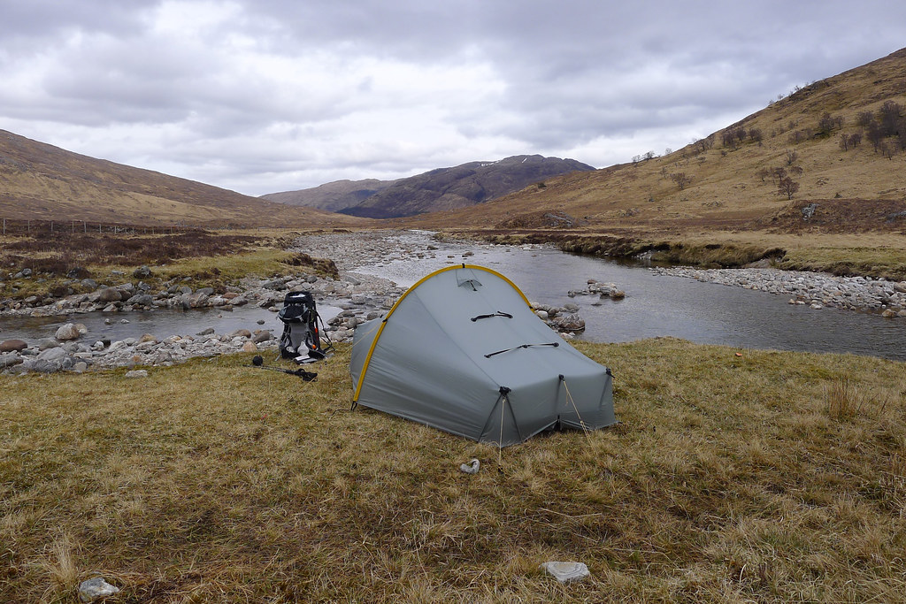 Wild camp in Glen Scaddle