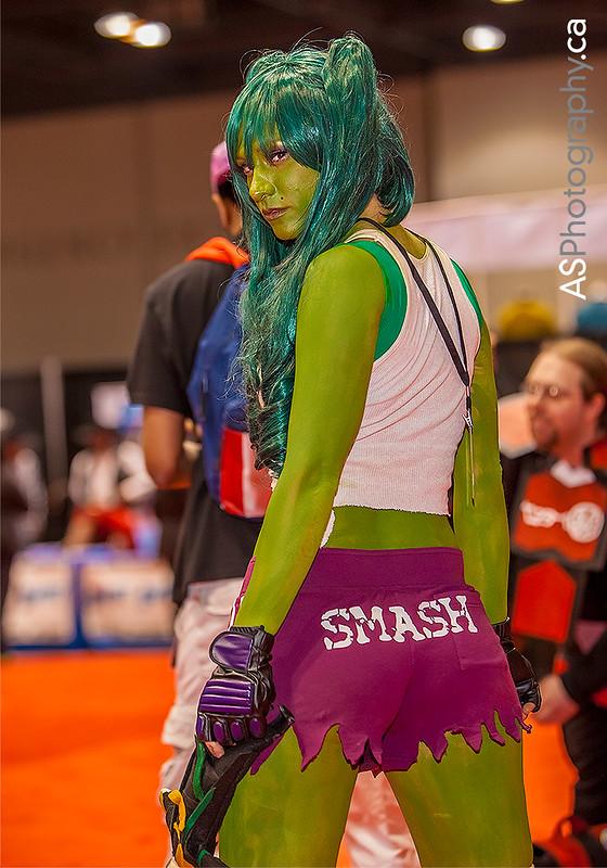 She-Hulk by Freddie captured at C2E2 2013