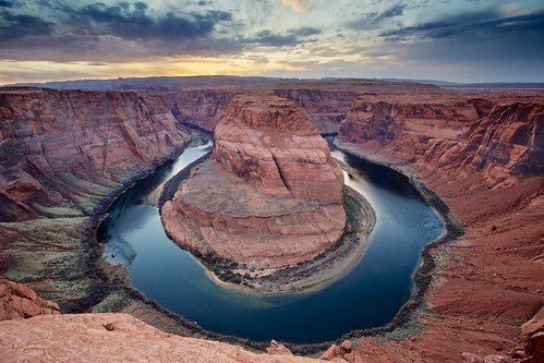 sunset arizona river landscape page coloradoriver oxbow glencanyon glencanyonnationalrecreationarea horseshoebend