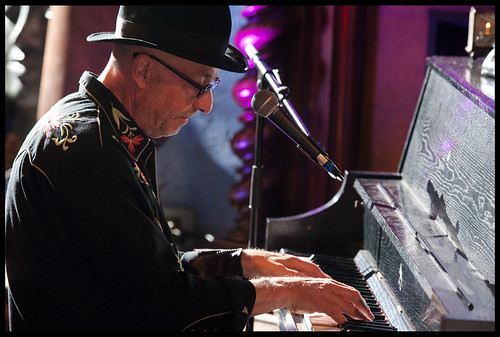 Bob Andrews  at WWOZ's Piano Night.  Photo by Ryan Hodgson-Rigsbee www.rhrphoto.com