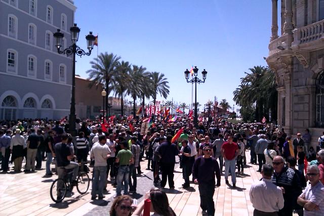 Fin de la mani en Cartagena