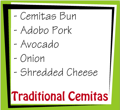 Cemitas Recipe Card