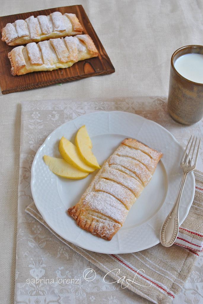 Fagottino di crema e mele