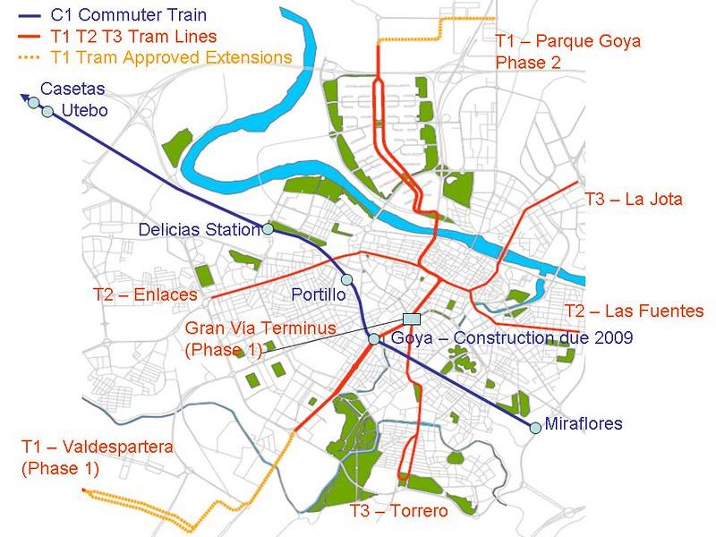 Mapa Electrico/Bonde em Saragoca