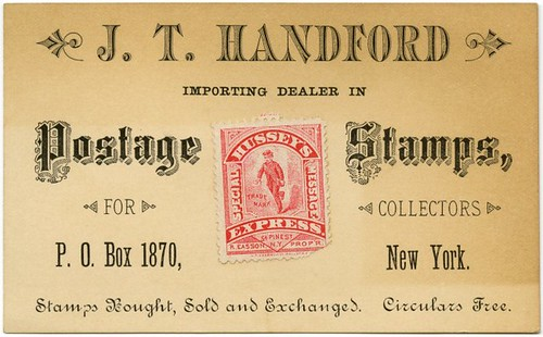 J. T. Handford, Importing Dealer in Postage Stamps for Collectors