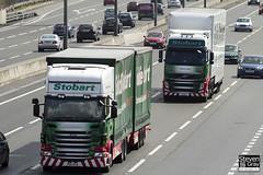 Scania R440 - PE11 AYD - Ellie Mae & Volvo FH - PX11 BYD - Tamsin Helen - Eddie Stobart - M1 J10 Luton - Steven Gray - IMG_8746