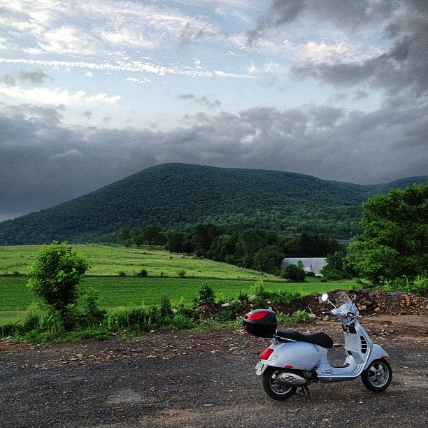 Mt. Nittany and #Vespa on a fine evening. #PennState