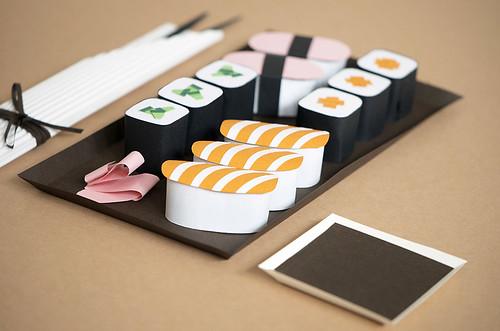 Paper Sculpture Sushi