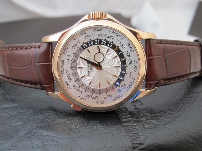 Bán đồng hồ Patek Philippe 5130 R – world time – vàng hồng 18k – size 39,5mm