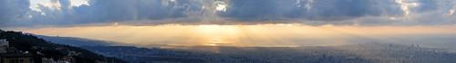 sunset lebanon nikon pano beirut meri serge melki beit godrays d300 18200mmf3556gvr beitmeri panoofbeirut