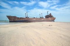 Shipwreck of the United Malika in Cap Blanc, Nouadhibou, Mauritania