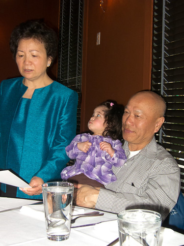 Scarlett and Grandparents at Uncle Yu's