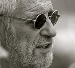 Elderly man portrait close up