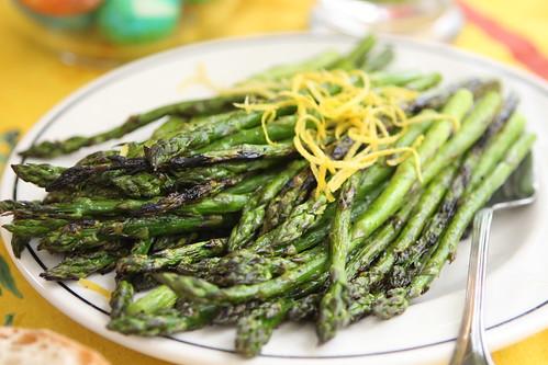 Grilled Asparagus with Lemon Zest