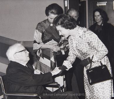 The Queen greets Sir Charles Chaplin by The British Monarchy
