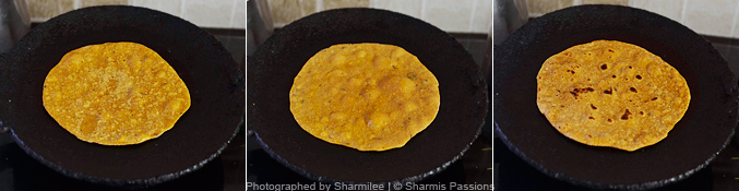 How to make masala chapathi - Step3