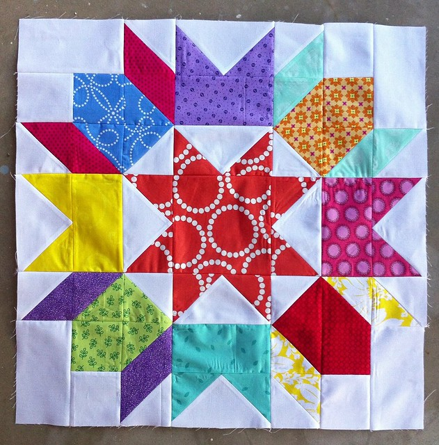 Scrappy Swoon block for That Stash Bee
