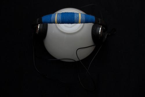 Yarn wrapped headphones